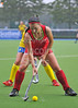 24 July 2016 at the National Hockey Centre, Glasgow Green, Scotland.<br /> EuroHockey U18 Championships II, Day 1.<br /> Pool B match - Ukraine v Belarus