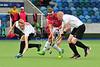 26 July 2016 at the National Hockey Centre, Glasgow Green, Scotland.<br /> EuroHockey U18 Championships II, Day 3.<br /> Pool B match - Austria v Poland