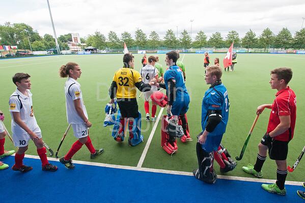 27 July 2016 at the National Hockey Centre, Glasgow Green, Scotland.<br /> EuroHockey U18 Championships II, Day 4.<br /> Pool B match - Switzerland v Austria