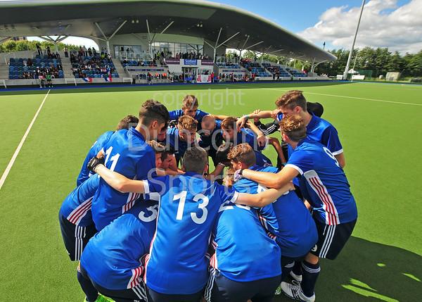 29 July 2016 at the National Hockey Centre, Glasgow Green, Scotland.<br /> EuroHockey U18 Championships II, Day 5.<br /> Semi Final match - France v Austria