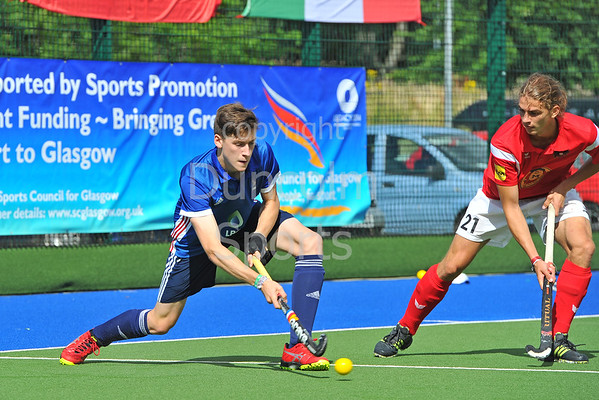 29 July 2016 at the National Hockey Centre, Glasgow Green, Scotland.<br /> EuroHockey U18 Championships II, Day 5.<br /> Semi Final match - France v Austria
