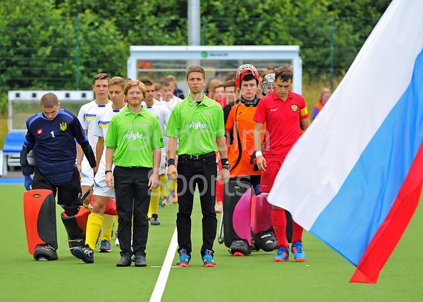 30 July 2016 at the National Hockey Centre, Glasgow Green, Scotland.<br /> EuroHockey U18 Championships II, Day 6.<br /> Pool C match - Russia v Ukraine