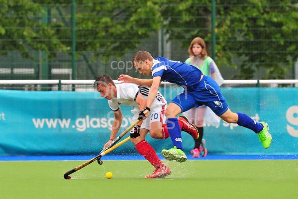 24 July 2016 at the National Hockey Centre, Glasgow Green, Scotland.<br /> EuroHockey U18 Championships II, Day 1.<br /> Pool A match - Scotland v France