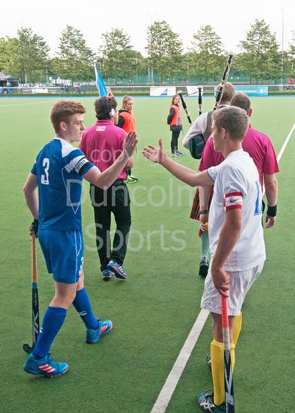 27 July 2016 at the National Hockey Centre, Glasgow Green, Scotland.<br /> EuroHockey U18 Championships II, Day 4.<br /> Pool A match - Scotland v Ukraine