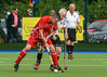 20 August 2017 at the National Hockey Centre, Glasgow Green. Grand Masters Hockey European Cup 2017. Over 75s match - Germany v England