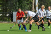 19 August 2017 at Millerston, Glasgow. Grand Masters Hockey European Cup 2017. Tournament Trophy over 60s match - England LX Red v Team Germany Red