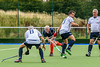25 August 2017 at the National Hockey Centre, Glasgow Green . Grand Masters Hockey European Cup 2017. Over 60 match - Italy v France