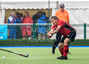 25 August 2017 at the National Hockey Centre, Glasgow Green . Grand Masters Hockey European Cup 2017. Over 60 match - Wales v Spain