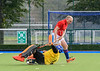 26 August 2017 at the National Hockey Centre, Glasgow Green . Grand Masters Hockey European Cup 2017. Over 65 match - Netherlands Orange v England LX Red
