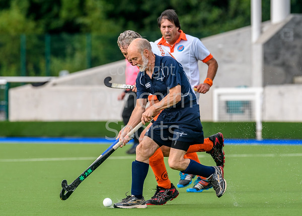 23 August 2017 at the National Hockey Centre, Glasgow Green. Grand Masters Hockey European Cup 2017. Over 65 match - Netherlands v Scotland