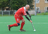 22 August 2017 at the Clydesdale Hockey Club, Glasgow. Grand Masters Hockey European Cup 2017. Over 70 match - England v Belgium Old Lions