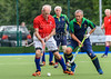 26 August 2017 at the National Hockey Centre, Glasgow Green . Grand Masters Hockey European Cup 2017. Over 70s Trophy Final -  Southern Cross Blue v England LX Red