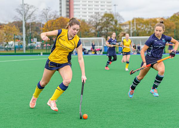 2 November 2019 at Old Anniesland, Glasgow. Scottish Hockey Women's Premiership match - GHK v Merlins Gordonians