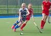 1 October 2016 at the National Hockey Centre, Glasgow Green.<br /> Scottish Hockey Youth Interdistrict Girls tournament - under 16s - Midland v South West