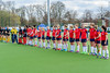 13 April 2019 at the National Hockey Centre, Glasgow Green. Scottish Hockey Grand Finals day.<br /> Women's relegation/promotion match – Glasgow University v Erskine Stewarts Melville