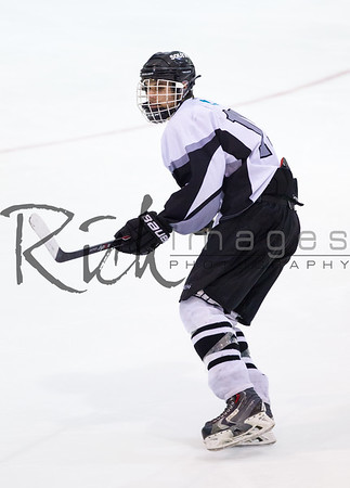 Buzzards Bay, MA - MARCH 6, 2014: The Canton  Bulldogs faced Plymouth South during the MIAA Div 2 South Semi Finals in hockey action at Gallo Arena on March 6, 2014 in Buzzards Bay, Massachusetts. Canton won 7-1.