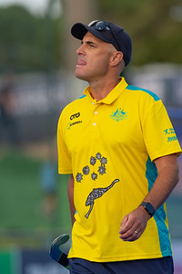 Perth FIH Pro League Australia vs Argentina Picture: Australian coach WORLDSPORTPICS COPYRIGHT GORDON PETTIGREW