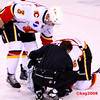 Cracknell injured in 2nd period, being attended to by QC trainer. He did return in the 3rd frame to finish the game.