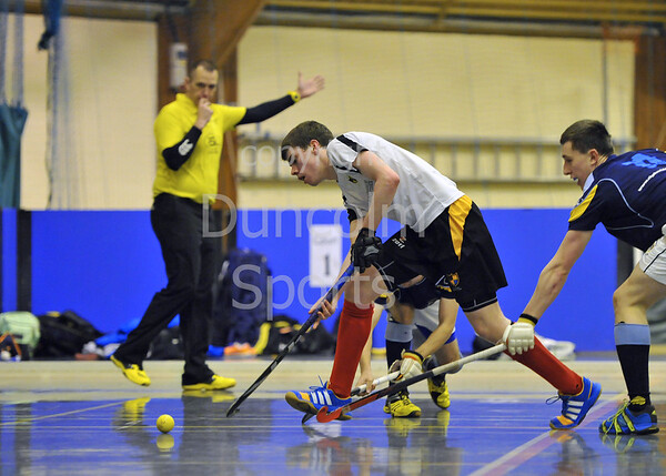 7 February 2015, Bells Sports Centre, Perth.<br /> Scottish Hockey Indoor Gala Finals. <br /> Clydesdale v Hillhead<br /> <br /> Clydesdale v Hillhead