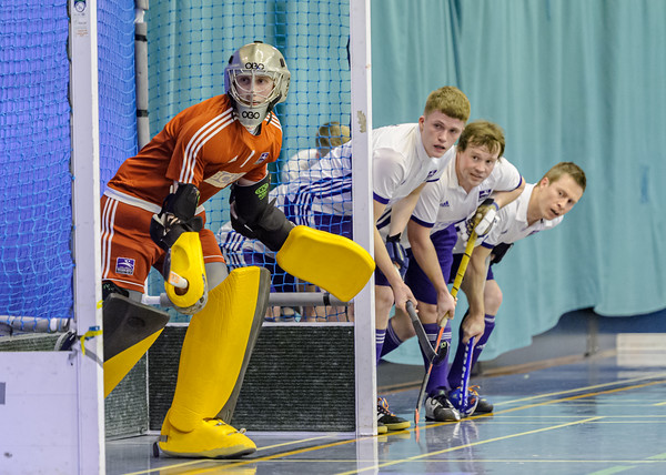 9 February 2020 at Bells Sports Centre, Perth. Scottish Hockey Indoor Gala Finals.<br /> Men's Grand Final - Inverleith v Grove Menzieshill