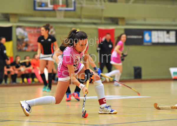 20 February 2016 at Dundee International Sports Complex. Eurohockey Indoor Club Champions Trophy. Game 9, Iris Hockey Lambersart v Highway HC