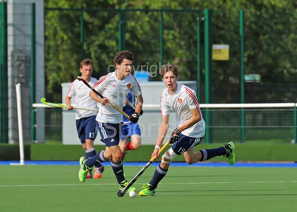 27 June 2015 at The National Hockey Centre, Glasgow Green.<br /> Scotland Under 18 Boys v England