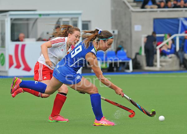 27 June 2015 at The National Hockey Centre, Glasgow Green.<br /> Scotland Under 18 Girls v England