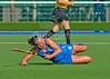 5 June 2015 at the National Hockey Centre, Glasgow Green. Women's International match  Scotland v Wales