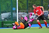 20 May 2016 at the National Hockey Centre, Glasgow Green, Scotland.<br /> Home Nations Masters Tournament - Over 40s<br /> Scotland v Wales