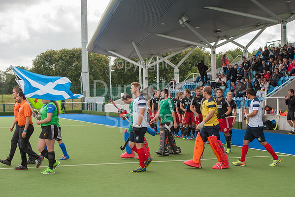 11 September 2016 at the National Hockey Centre, Glasgow Green. <br /> FIH Men's World League 1 match - <br /> Slovakia v Switzerland