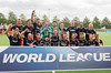 11 September 2016 at the National Hockey Centre, Glasgow Green. <br /> FIH Men's World League 1 presentations <br /> Wales team