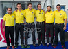 10 September 2016 at the National Hockey Centre, Glasgow Green. <br /> FIH Men's World League 1  The umpires