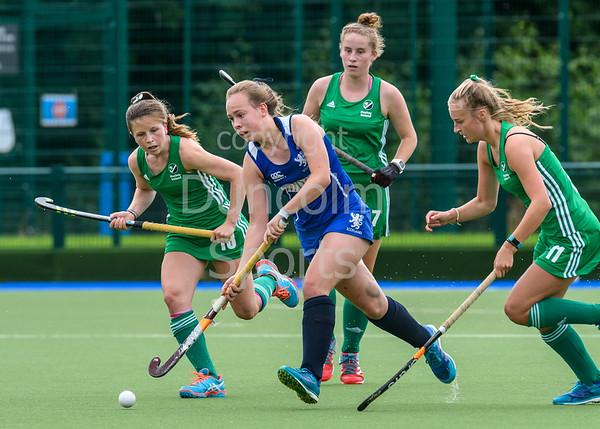 7 July 2017 at the National Hockey Centre, Glasgow Green. Scotland under 16 Girls v Ireland u16