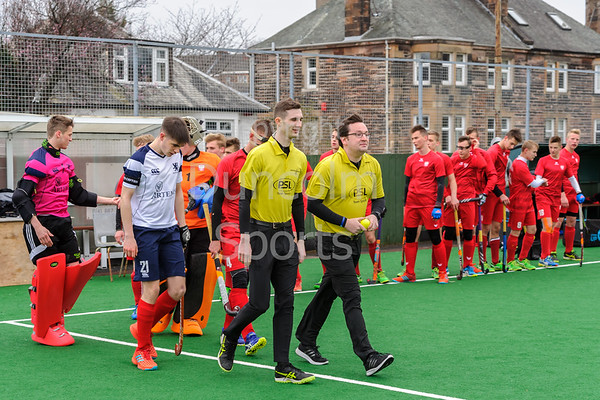 12 April 2018 at Titwood, Glasgow. Scotland Under 18 Boys v Poland