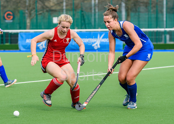 19 April 2019 at The National Hockey Centre, Glasgow Green.<br /> Scotland under 21 women v Wales