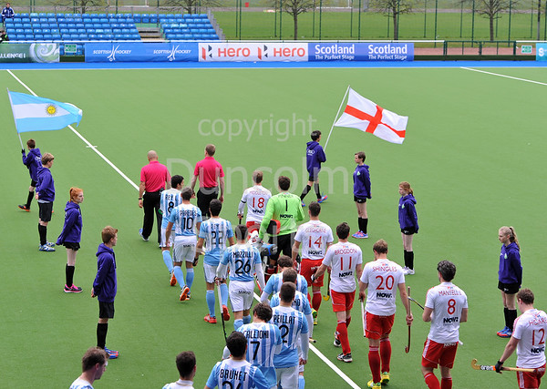 25 April 2014. Four Nations Hockey Tournament At the National Hockey Centre, Glasgow Green.<br /> <br /> England v Argentina