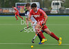 29 April 2014. Four Nations Hockey Tournament at the National Hockey Centre, Glasgow Green.<br /> England v Scotland