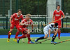 29 April 2014. Four Nations Hockey Tournament at the National Hockey Centre, Glasgow Green.<br /> <br /> England v Scotland