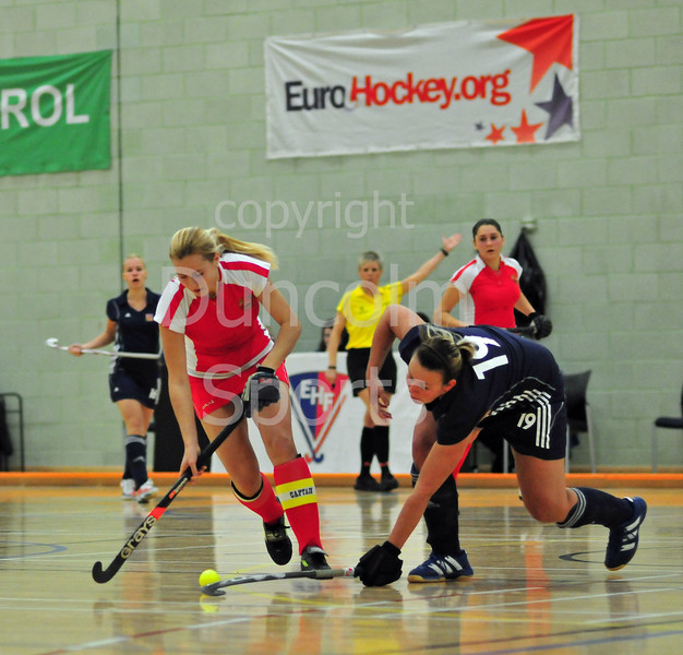Belarus v Czech Republic. EuroHockey Junior Indoor Championships 2011. Under 21 competition held at The Peak, Stirling, 21-23 Jan 2011