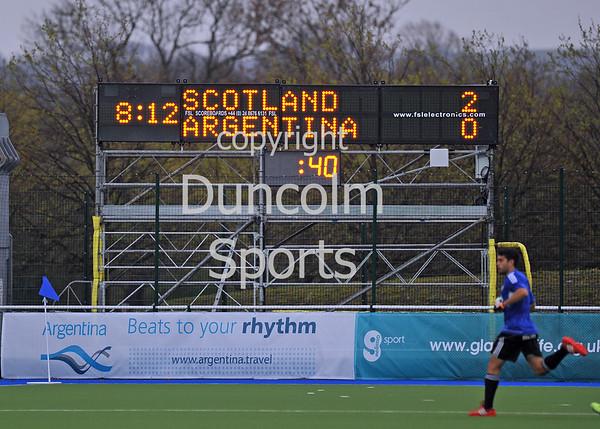 23 April 2014 - Scotland v Argentina at the National Hockey Centre, Glasgow Green.