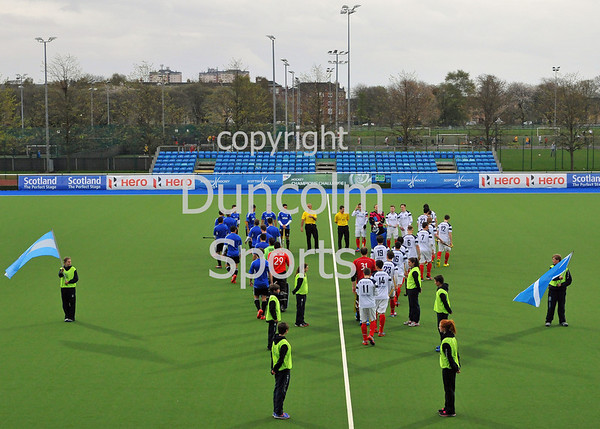 23 April 2014 - Scotland v Argentina at the National Hockey Centre, Glasgow Green.