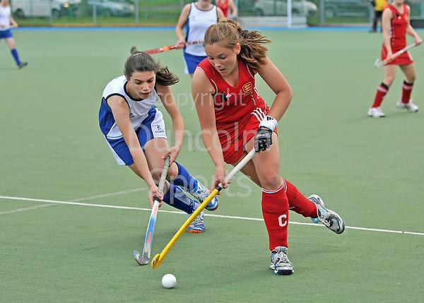 Scotland under 16 girls v England. Match at Bellahouston, Glasgow on 30 May 2011.