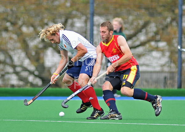 Spain v England. A match from the four nations tournament held at Inverclyde on 11-13 June 2011.