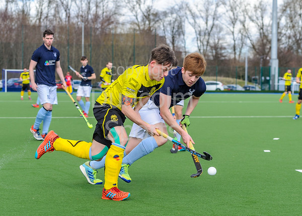 24 March 2018 at the National Hockey Centre, Glasgow Green. Scottish League Division 1 match - Kelburne v Grange