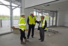 10 May 2013. New National Hockey Centre being built on Glasgow Green.<br /> The lounge/reception room area – view to pitch 1