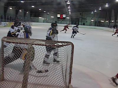 Game 3 vs Toronto Eagles (W 2-1) : Logan at work holding off the Toronto pressure