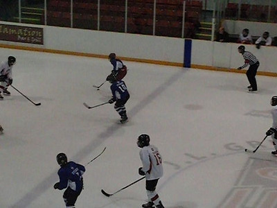 Ross doing his power forward thing ... opps, he's playing D