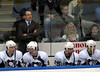 Dan Bylsma, Ruslan Fedotenko, Sidney Crosby, Maxime Talbot and Bill Thomas on the bench