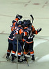 Islanders celebrate their first goal
