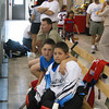 2002 AAU Nationals in Raleigh, NC. Alex and Corey Mesmer.  Dave Wilson in back.